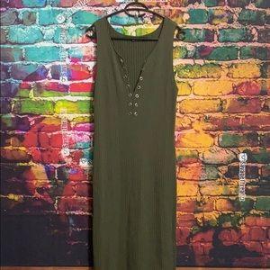 Green Bodycon Maxi Dress